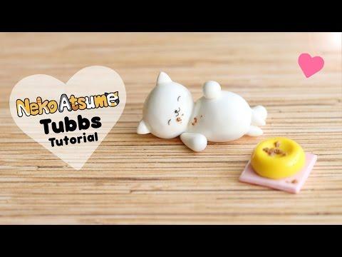 Neko Atsume Tubbs│Polymer Clay Tutorial