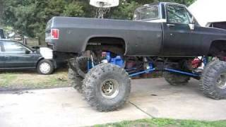 Mud Truck Big Lifted Chevy Jacked Up Mud Truck