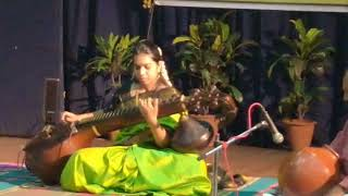 Ghana Raaga Taana rendered on the Veena - kr.apoorva