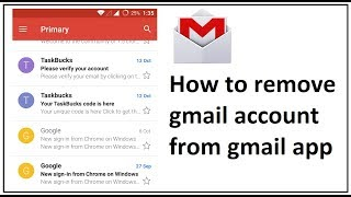 how to remove gmail account from gmail app