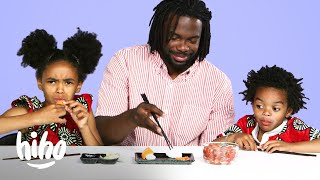 Jaxon and Braylen Try Their Dad's Least Favorite Food | Kids Try | Hiho