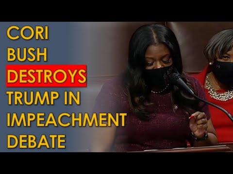 Trump OBLITERATED by Cori Bush During House Impeachment Vote; Republicans BOO her