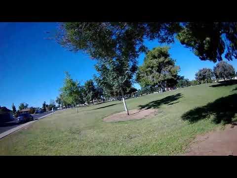 Mobula7 HD Whoop - FPV Park Flight Around Through Trees ND8 Filter