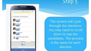How to vote using your mobile phone