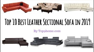 Top 10 Best Leather Sectional Sofa In 2019 | Top9home.com