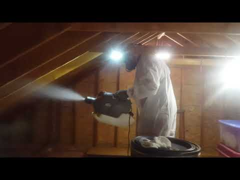 If you have a leak in your attic, it's imperative that you have it fixed as soon as possible. Otherwise, mold can develop, which is exactly what happened to this homeowners attic in Rumson, NJ.