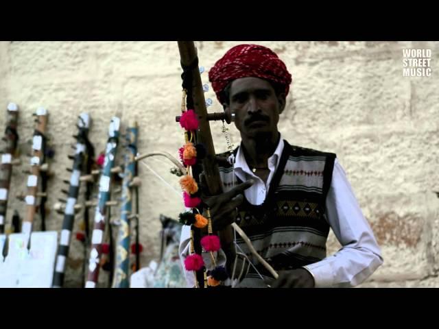 Ravanhatta player in Jaisalmer (Rajasthan, India) HD