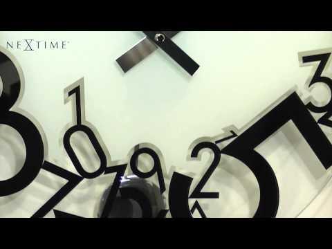 Video Nextime Dropped 8115 nástěnné hodiny 1