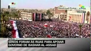 preview picture of video 'Sírios foram às ruas para apoiar governo de Bashar Al-Assad'