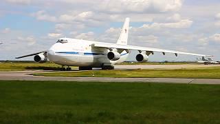Руление Ан-124 в Толмачёво