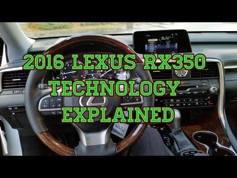 2016 / 2017 Lexus RX350 In Vehicle Technology Tutorial