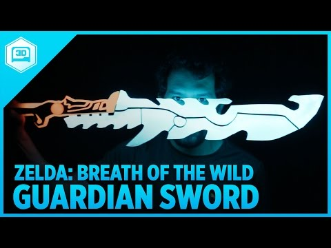 3D Printing Zelda: Breath of the Wild – Guardian Sword with NeoPixel LEDs