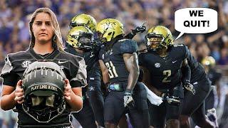 Vanderbilt players may QUIT TEAM as Sarah Fuller kicking stunt takes WOKE SPORTS to a new level!