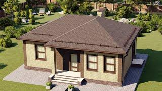 Проект дома 074-А, Площадь дома: 74 м2, Размер дома:  11,4х8,7 м
