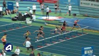 Liévin 2019 : Finale 60 m haies Juniors F (Aelys Gente en 8''50)