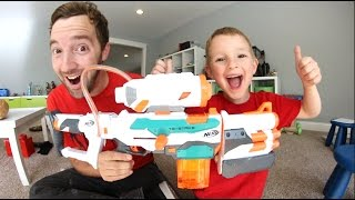Father & Son GET MASSIVE NERF GUN! / Tri Strike!