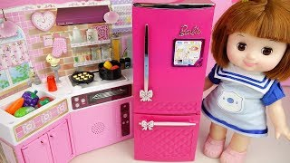 Baby doll kitchen and refrigerator play baby Doli house