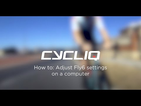 How to adjust Fly6 settings on a computer