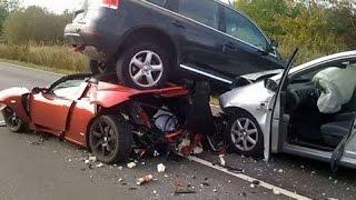 Самые жестокие аварии снятые на видеорегистратор.