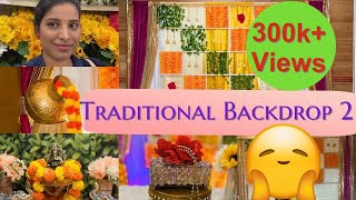 #decors #vlogging #vlogger How To Make Traditional Backdrop At Home | Backdrop 2  Making In Detail
