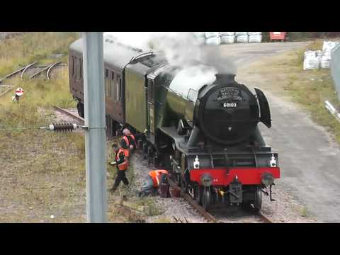 60103 'Flying Scotsman' sits at Eastfield in Peterborough wi…