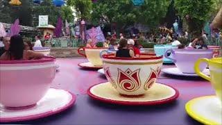 Mad Tea Party Tea Cups In Disneyland Fantasyland - Full Ride In HD