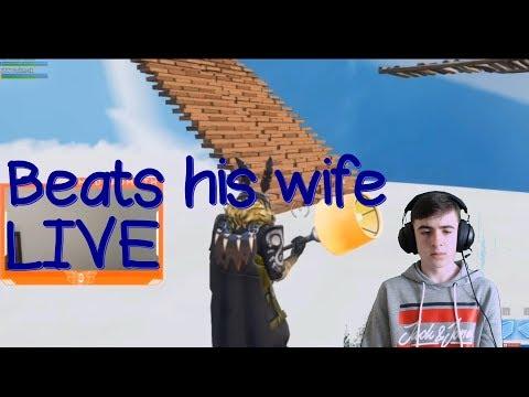 MrDeadMoth beats his wife on stream