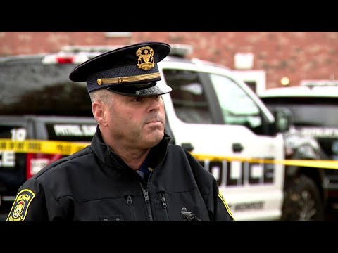 Michigan State Police Lt. Brian Oleksyk speaks after 2 Monroe officials shot by apartment tenant