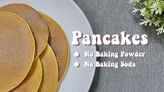 pancakes without eggs milk and baking powder