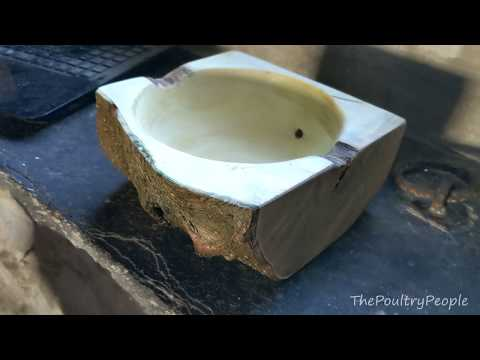 Bowl Turning from Live edge firewood  + Slow motion test