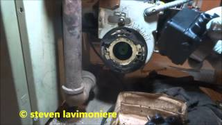oil burner pump keeps loosing prime ,pump replaced