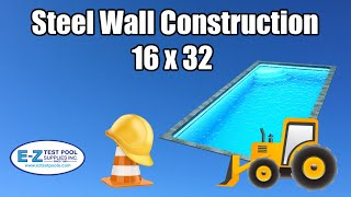 Inground Pool 16x32 With Steel Wall Construction Install