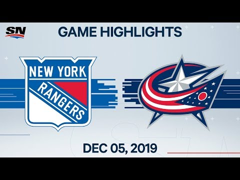 NHL Highlights | Rangers vs Blue Jackets – Dec. 5, 2019