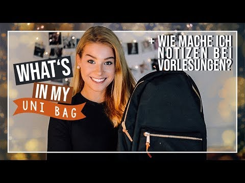 WHAT'S IN MY UNI BAG // JustSayEleanor (Schultasche, What's in my Schoolbag)