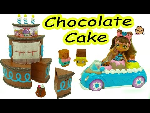 DIY Easy Craft Painting Season 7 Shopkins Birthday Chocolate Cake Surprise Playset