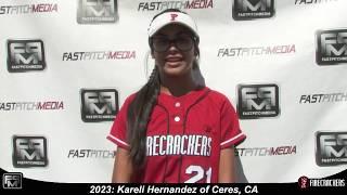 2023 Kareli Hernandez Outfield and Catcher Softball Skills Video - Firecrackers