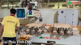 Mộng âm cnc 10 đầu Woodmaster | máy đục mộng oval, khoan, lắc, chạy rãnh ...