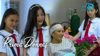 Aired (February 14, 2020): Kahit pa sinabotahe ni Brianna ang plano nina Donna Lyn at Donna Belle, nakagawa pa rin sila ng paraan para sorpresahin si Lady Prima.   Catch the latest episodes of 'Prima Donnas' weekdays at 3:25 PM and Saturdays at 2:30 PM on GMA Network, starring Jillian Ward, Althea Ablan, and Sofia Pablo. Also in the cast are Aiko Melendez, Katrina Halili, Wendell Ramos, Chanda Romero, Benjie Paras, Elijah Alejo, Will Ashley, Vince Crisostomo, and Julius Miguel. #PrimaDonnas #PrimaDonnasWorldwide -------------- Subscribe to the GMA Network channel! - http://goo.gl/oYE4Dn  To our #KapusoAbroad, you can watch the latest episodes on GMA Pinoy TV! For more information, visit http://www.gmapinoytv.com   Visit the GMA Network Portal!  http://www.gmanetwork.com   Connect with us on: Facebook: http://www.facebook.com/GMANetwork Twitter: https://twitter.com/GMANetwork Instagram: http://instagram.com/GMANetwork
