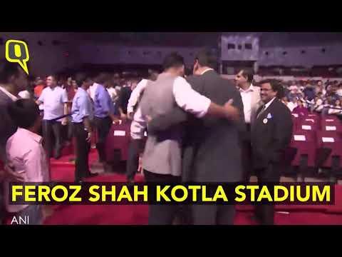 Virat kohli on the   event of Delhi stadium
