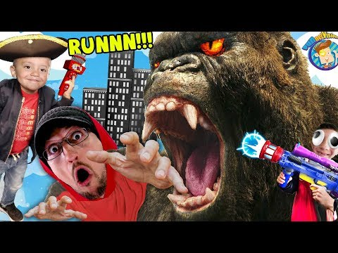 GIANT APE CHASE! (FGTEEV's Game Turns Into Music Video) FV Family Behind the Scenes