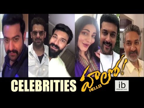 Celebrities launches Akhil's Hello first look - idlebrain.com