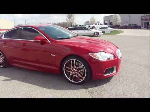 Red Jaguar XFR, painted rims, Spade Kreations 2011