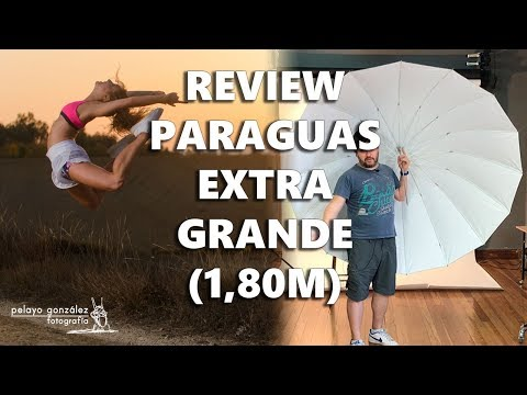 Review Paraguas reflector de 180cms