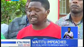MCAs allied to Waititu vow's to challenge the impeachment in court
