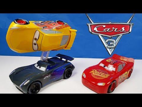 Disney Cars 3 Toys Flip to the Finish Cruz Ramirez and Jackson Storm Lightning Mcqueen