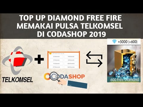 CARA TOP UP DIAMOND FREE FIRE MEMAKAI PULSA TELKOMSEL DI CODASHOP 2019
