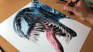 Drawing Venom (Tom Hardy)  - Timelapse | Artology