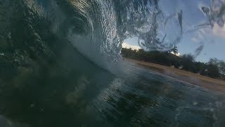 preview picture of video 'Bodyboarding at Manele bay, Lanai- Hawaii'
