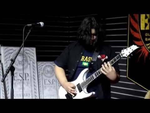 Luís Kalil playing at ESP Booth (The NAMM Show 2015 - Anaheim, CA - US)