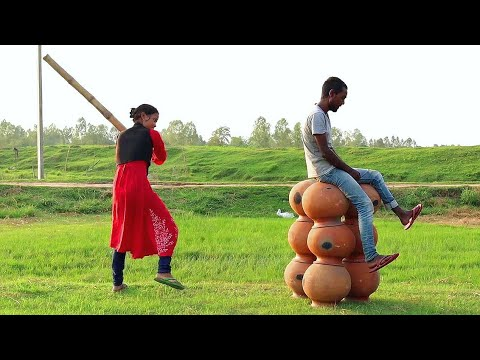 Must Watch Indian Funny😜😜Comedy Videos 2019, Ep-73    New Funny Videos    #myfamily   